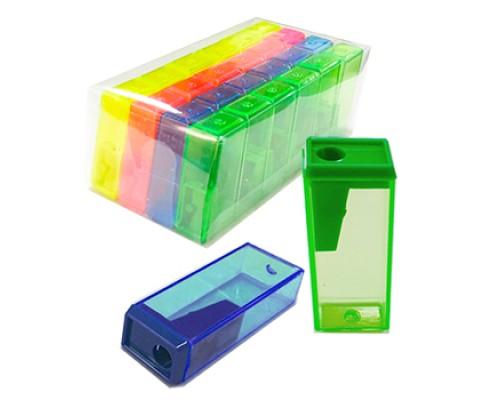 Точилка Kwelt пластик с контейнером цветная К-7945
