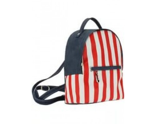 Рюкзак Vita женский на молнии 181 DC681 экокожа красный