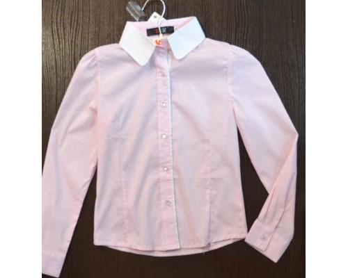 Блуза д/дев длин рукав SGW розовая р122