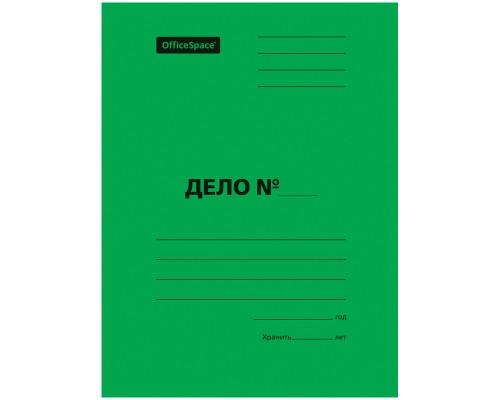 Скоросшиватель карт 300 г/м2 зеленый мелов пробитый Спейс
