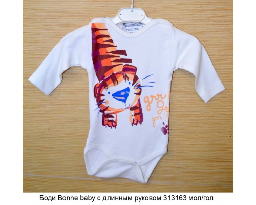 Боди Bonne baby с длинным руковом 313163 мол/гол р56