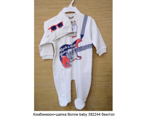 Комбинезон+шапка Bonne baby 382244 беж/гол р56