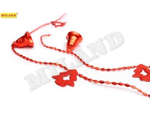 Бусы Колокольчики и ёлочки красные Миленд НУ-6740