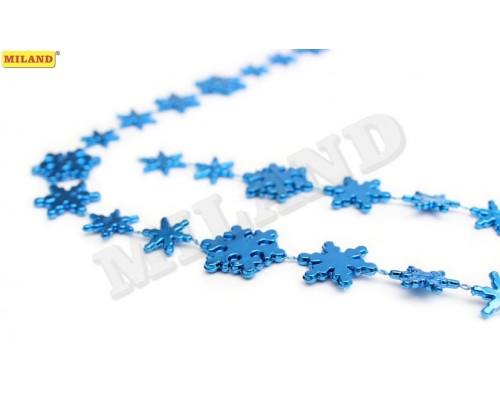 Бусы Снежинки синие Миленд НУ-6753