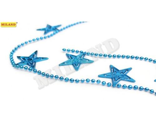 Бусы Яркие звезды синие Миленд НУ-6746