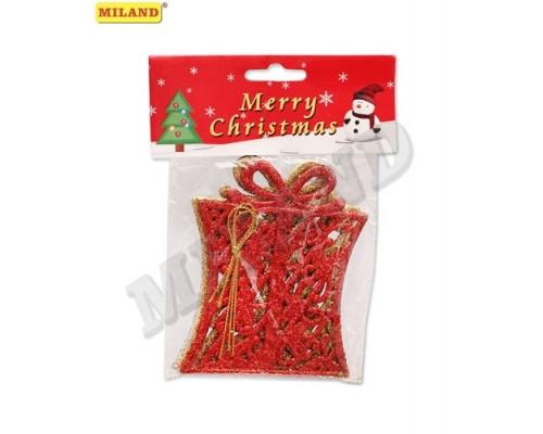 Ёлочные украшения Новогодние подарки 3шт 10см Миленд НУ-8323