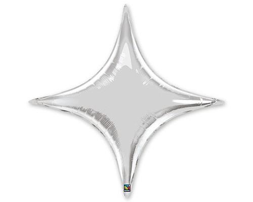 Шар фольга Звезда 4х-конечная 20