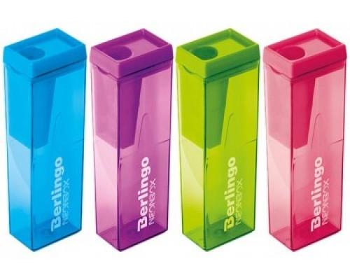 Точилка Berlingo Neon Box пластик 1отв с контейнером