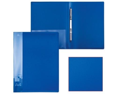 Папка-скоросшиватель Бюрократ А4 синяя, пластик 0,7мм PZ07Pblue