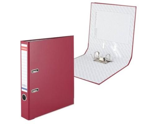 Папка-регистратор 50мм ЕК Стандарт бордо собр картон/ПВХ,металл.уголок,без кармана 293