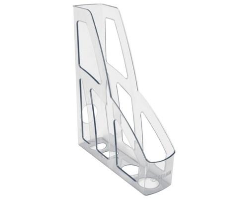 Лоток вертикальный Стамм Лидер 75мм прозрачный ЛТ130