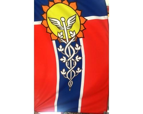 Флаг 1*1,5м мокрый шелк Армавир