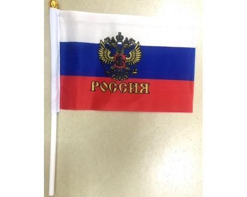 Флажок 10*15  Россия+палочка