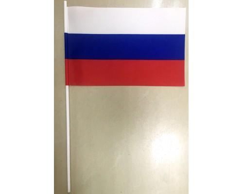 Флажок 22,5*15 см п/эфир Россия+палочка