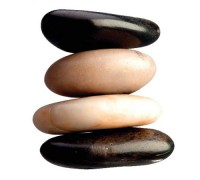 Наклейка Декоретто Черно-белые камни
