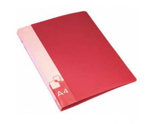 Папка-скоросшиватель Бюрократ А4 красная пластик 0,7мм PZ07Pred